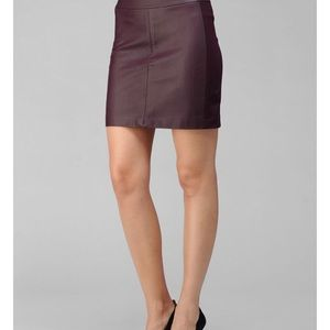 "PAIGE ""Marina"" Raven leather skirt!"